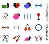 solid vector ixon set   barbell ... | Shutterstock .eps vector #1095069173