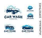 set of car wash logo designs... | Shutterstock .eps vector #1095079493