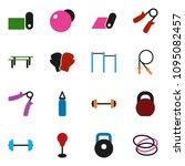 solid vector ixon set   barbell ... | Shutterstock .eps vector #1095082457