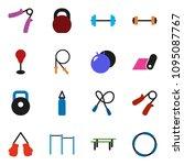 solid vector ixon set   barbell ... | Shutterstock .eps vector #1095087767