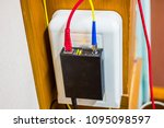 fiber optic cables connected to ... | Shutterstock . vector #1095098597