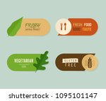 natural label and organic fresh ... | Shutterstock .eps vector #1095101147