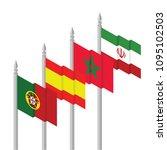 portugal  spain morocco iran... | Shutterstock .eps vector #1095102503