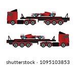 transport tir truck | Shutterstock .eps vector #1095103853
