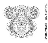 monochrome decorative swirly... | Shutterstock .eps vector #1095104243