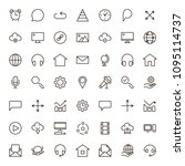 seo icon set. collection of...   Shutterstock .eps vector #1095114737