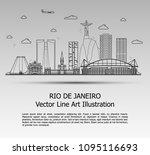 line art vector illustration of ... | Shutterstock .eps vector #1095116693