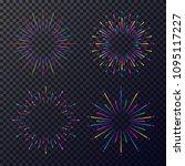 vector neon stars set isolated...   Shutterstock .eps vector #1095117227