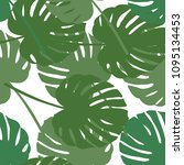 palm leaf seamless pattern.... | Shutterstock .eps vector #1095134453