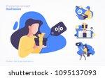 set of shopping concept...   Shutterstock .eps vector #1095137093