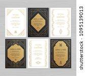 luxury wedding invitation or...   Shutterstock .eps vector #1095139013