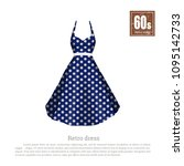 retro dress in realistic style... | Shutterstock . vector #1095142733