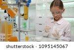 child making chemical... | Shutterstock . vector #1095145067