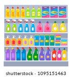various household chemical... | Shutterstock .eps vector #1095151463