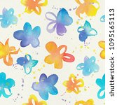 happy and bright floral... | Shutterstock . vector #1095165113