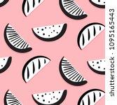 vector summer funny pattern... | Shutterstock .eps vector #1095165443