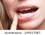 woman with pain in her gums... | Shutterstock . vector #109517087