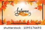 sunlight ray shining through...   Shutterstock .eps vector #1095176693