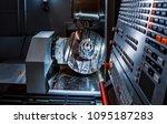 metalworking cnc milling... | Shutterstock . vector #1095187283