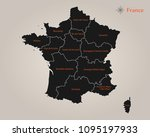 map of france | Shutterstock .eps vector #1095197933
