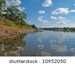 fine river landscape with... | Shutterstock . vector #10952050