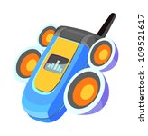 icon mobile phone | Shutterstock . vector #109521617