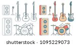 musical instruments   electric... | Shutterstock .eps vector #1095229073
