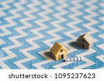 miniature house model with ... | Shutterstock . vector #1095237623