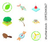 grove icons set. cartoon set of ... | Shutterstock . vector #1095244367