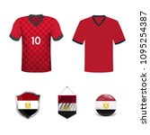 set of t shirts and flags of... | Shutterstock .eps vector #1095254387