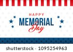 happy memorial day card vector... | Shutterstock .eps vector #1095254963