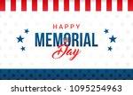 happy memorial day card vector... | Shutterstock .eps vector #1095254963