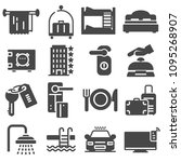 hotel service  hotel icons set  ... | Shutterstock .eps vector #1095268907