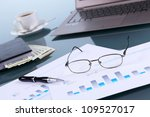 collage with business papers on ...   Shutterstock . vector #109527017