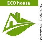 logo eco house | Shutterstock .eps vector #1095280787