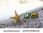 summer time concept with a... | Shutterstock . vector #1095298433