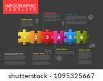 vector puzzle infographic... | Shutterstock .eps vector #1095325667