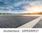 wooden board square floor and... | Shutterstock . vector #1095330917