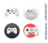 game controller icon on white... | Shutterstock . vector #1095345107