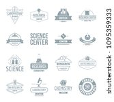 chemical science logo icons set.... | Shutterstock . vector #1095359333