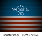 memorial day greeting card.... | Shutterstock .eps vector #1095370763