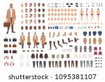 fashionable man of middle ages... | Shutterstock .eps vector #1095381107