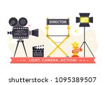 film directors chair with... | Shutterstock .eps vector #1095389507