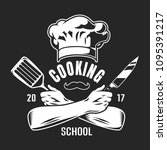 vintage cooking classes logo... | Shutterstock .eps vector #1095391217