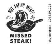 vintage steak house logo with...   Shutterstock .eps vector #1095391223