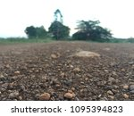 the dirt field  bright blurred... | Shutterstock . vector #1095394823