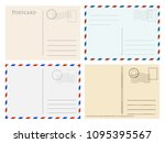 travel postcard templates.... | Shutterstock .eps vector #1095395567
