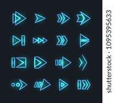 directional neon arrows.... | Shutterstock .eps vector #1095395633