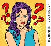 woman skeptical facial... | Shutterstock .eps vector #1095401717