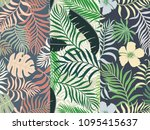 set of three seamless floral...   Shutterstock .eps vector #1095415637